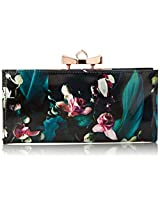 Ted Baker Tenda Orchid Print Wallet, Dark Blue, One Size