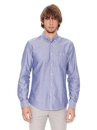 Ben Shermann Camisa Manga Larga Cierre Botones Reynald (Azul)