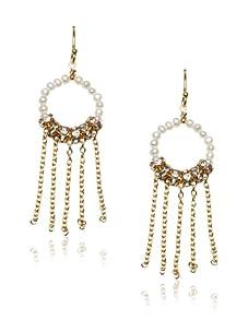 Diane Yang Pearl Fringe Earrings