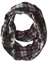 Betsey Johnson Women's Plaid Lace Infinity Scarf