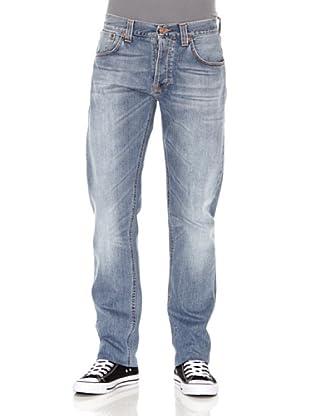 Nudie Jeans Pantalón Sharp Bengt (Azul desgastado)