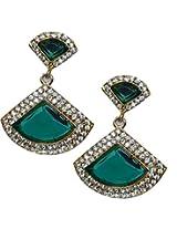 11-Girls Beautiful Style Diva Green Designer Earring