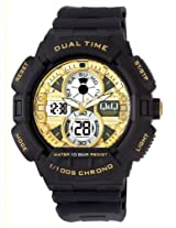Q&Q Digital Gold Dial Men's Watch - GW81J003Y