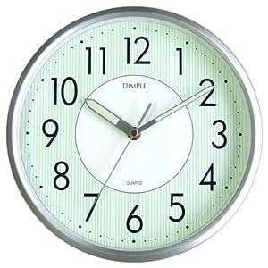 DIMPLE (ディンプル) 連続秒針 蓄光文字板 アナログクォーツ掛け時計 DUP244S