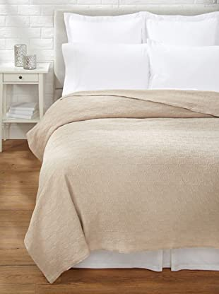 Belle Epoque Rose Coastal Matelassé Coverlet (Sandstone)