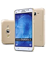 Nillkin Frosted Shield Hard Back Case Cover + Screenguard for Samsung Galaxy J5 - Gold