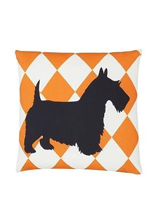 Twinkle Living Scottish Terrier Pillow Cover (Orange/Black)