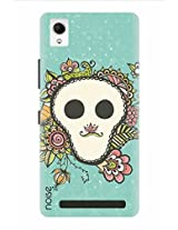 Noise Skully Flower Frame Printed Cover for Intex Aqua Power Plus