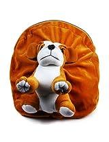 Rushi Enterprise Dog Cute Teddy Soft Toy School Bag for kids, Travelling Bag, Carry Bag, Picnic Bag, Teddy Bag (Golden Brown)