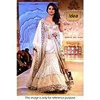 Bollywood Replica Priyanka Chopra Net and Velvet Lehenga In Off White Colour