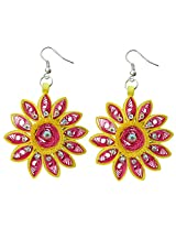 Designer's Collection Paper Quilling Ear Rings for Women-DSERA019