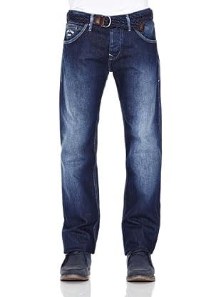 Pepe Jeans London Pantalón Vaquero Hoxton Ot (Azul Oscuro)