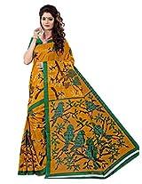 e-VASTRAM Women Bhagalpuri Cotton Silk Saree