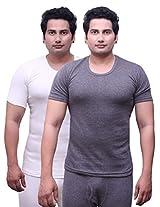 Selfcare Set Of 2 Men's Half Sleeve Thermal Top