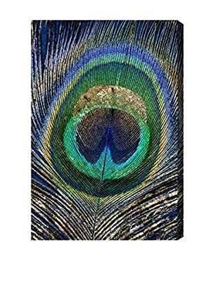 Oliver Gal Feather Touch Blue Canvas Art