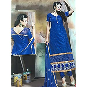 Fashioniista Blue Elegance - Dress Material