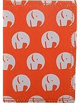 Jaira Designs Orange Passport Cover