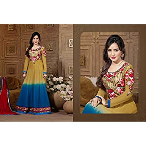 Neha Sharma's Fascinating & Gorgeous Anarkali Salwar Kameez (C892P22664)