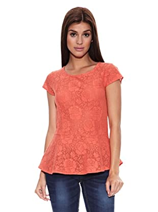 Springfield Blusa Peep Loom Lace Blouse (Coral)