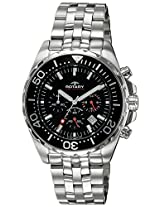 Rotary Analog Black Dial Men's Watch-AGB00013C04