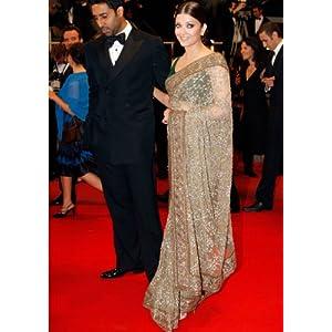 Aishwarya Rai Designer's Bollywood Saree at Cannes Award