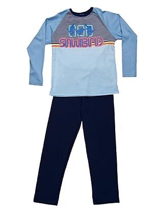 Blue Dreams Pijama Niño Punto Liso (marino)