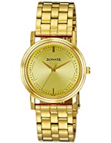 Sonata Analog Gold Dial Men's Watch - ND1141YM22
