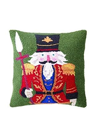 Peking Handicraft Hooked Pillow (Red Nutcracker)