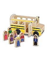 Wooden School Bus 8-Piece Play Set [93958]