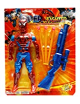 Spiderman Action Figure With A Dart Gun