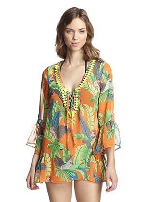 Heather Blond Women's Jewel Embellished Tunic (Kohala Print)