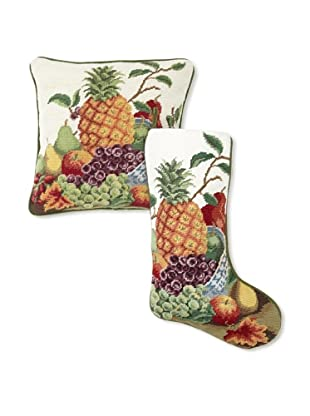 C & F Enterprises Pineapple Stocking & Pillow Set