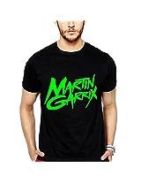 iLyk Men's Martin Garrix Neongreen Printed T-Shirt (10924_Black_Large)