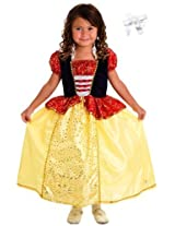 Little Adventures 11324 Snow White Princess Dress Costume size 7-9 with Hairbow