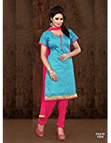Attractive Designer Blue And Pink Salwar Suit FA218-1004