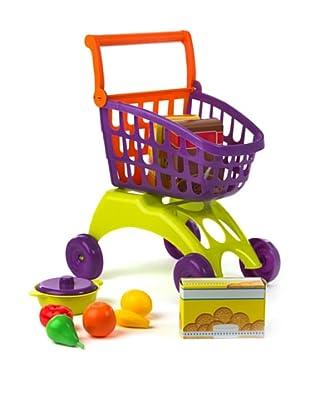 Kidzcorner Carrito compra + Set de alimentos