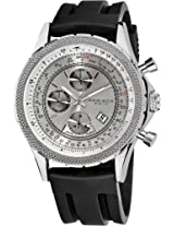 Akribos XXIV Men's AK532SS Conqueror Swiss Multifunction Rubber Strap Watch