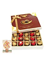 20pc Unique Combination Of Wrapped Chocolate Box With Birthday Card - Chocholik Luxury Chocolates