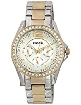 Fossil Es Series Analog Watch - For Women Gold Silver - ES3204