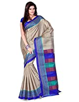 Cenizas Cotton Silk Saree (3302 Blue)