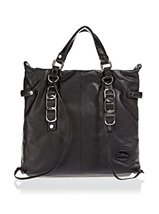 Borella Leder Tote-Bag (Schwarz)