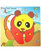 Skillofun Wooden Theme Puzzle Standard Panda Bear Knobs, Multi Color
