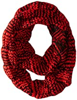 D&Y Women's Two Tone Diamond Knit Loop