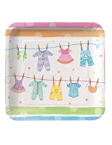 Creative Converting Baby Shower Baby Clothes 8 Count Paper Dinner Plates