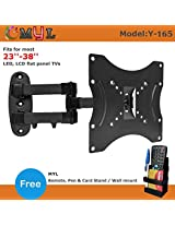 "MYL Imported Swivel Tilt TV Wall mount for LCD/LED TV's upto 23"" to 38"" inch Y-165 + Free MYL Remote Stand MYL RS1"