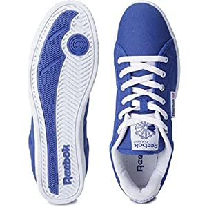 Reebok Men's On Court III Lp Royal Blue and White Canvas Sneakers  - 9 UK