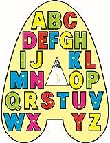 "Kinder Creative-KCL-15-""A"" Shaped Alphabet(Multicolour)"