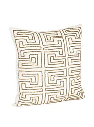 Saro Lifestyle Bronze Maze Design Beaded Pillows