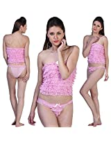 Fascinating Lingerie Womens Poly Cotton Everyday Bra ,Pink ,Free Size