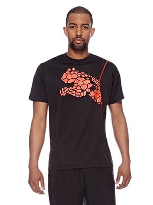 Puma Trainings T-Shirt CT Graphic Cat (black-miami red)